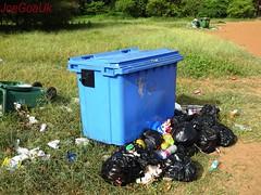 Miramar beach bins full up (dirtypanjim8) Tags: joegoauk goa rubbish garbage