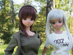 Ebony & Chitose (sh0pi) Tags: smart doll sd danny choo culture japan puppe tan tanned skin