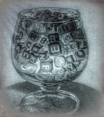 Words (clarkcg photography) Tags: letters words syllables cup chosen wine smooth sweet slidersunday
