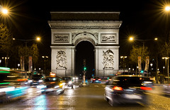 Busy champs elysee (Amir Shayani) Tags: paris busy traffic luxury street cars long exposure