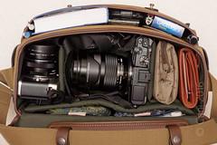Billingham f1.4 - an illustration (cani7575) Tags: ep5 gh1 lumix1445mmf3556 f14 camerabag bag billingham fstop mzuikod1240mmf28 mzuikod17mmf18 gauloises