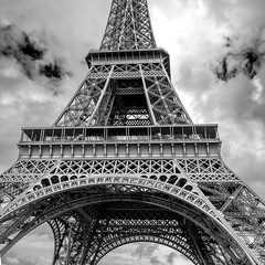 I promise I never will post a picture of her again (isobrown) Tags: eiffel tower paris france noiretblanc monochrome tour