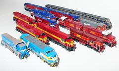 Victorian locomotive models circa 2001 era (DQ2004) Tags: auscision bendigorail austrains greatnorthern cfcla atn atnaccess westcoastrailway vline bclass tclass nclass aclass lclass elclass pclass southernrail