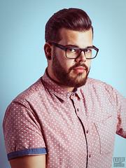 Benni 05 (WF portraits) Tags: aut man model portrait shirt bear beard hairy glasses