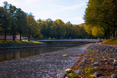 River (Joni Mansikka) Tags: autumn nature river riverbanks path bridge trees leaves light stones september aurajoki turku suomi finland tamronspaf2875mmf28xrdildasphericalif