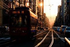 - In the Twilight (kurosatow) Tags: japan hokkaido sapporo railroad streetcar fujifilm xt2 sunset
