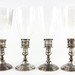 2058. Set of Four Gorham Sterling Hurricane Lights