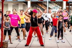 Village Party (ole) Tags: woman muscles island dance village muscle strong tahiti fitness society frenchpolynesia zumba raiatea