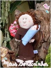 Santo Antnio (meusbonecrinhos) Tags: toy feltro antonio meus decorao santo bonecrinhos