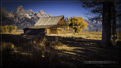 T A Moulton Barn in Autumn (Just Used Pixels) Tags: autumn mountain mountains building fall barn landscape shadows scenic structure jackson wyoming peaks tetons rugged moulton grandtetonnationalpark mormonrow