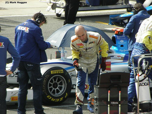 Charles Pic prepares for the GP2 Sprint Race at the 2011 British Grand Prix at Silverstone