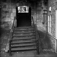 {{ S is for ... Stairway  }} (aiherzen) Tags: bw 120 6x6 tlr film stairs square cathedral steps stairway hp5 13 ilford yashica film26 ripon yashicamat yashinon microphen 23mins