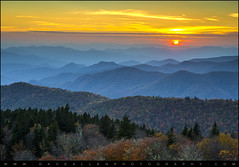 Blue Ridge Parkway Sunset - For the Love of Autumn (Dave Allen Photography) Tags: blue autumn sunset mountains fall nature colors sunrise landscape outdoors nc nikon scenic northcarolina foliage ridge parkway layers peaks overlook appalachia blueridgemountains blueridgeparkway ridges d800 appalachians wnc layered carolinas cowee southernappalachians mygearandme mygearandmepremium mygearandmebronze mygearandmesilver mygearandmegold mygearandmeplatinum mygearandmediamond