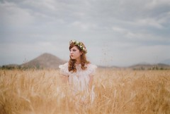 (Anna Hollow) Tags: wheatfield flowercrown annahatzakis annahollow
