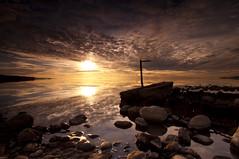Explosive Sunset_DSC0349_E (antelope reflection) Tags: sunset lake reflection water colors antelopeisland greatsaltlake sihouette utahstatepark nikond90 tamron1024