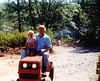 Tractor Ride (sjrankin) Tags: tractor dad ride edited michelle scanned june1988 20october2012