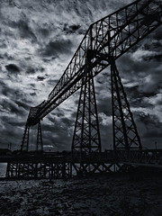 Tees Transporter Bridge (Bill  M) Tags: bridge copyright architecture bill martin middlesbrough transporter tees teestransporterbridge redcarandcleveland olympusep3 copyrightbillmartin copyrightbillmartin2012