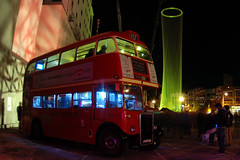 LUXCITY -  Festival of Transitional Architecture (geoftheref) Tags: new city christchurch bus festival architecture night long exposure cityscape canterbury double fisheye tokina zealand routemaster aotearoa lux decker transitional luxcity geoftheref