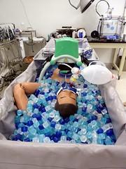Stabilization equipment (Arenamontanus) Tags: phoenix medical icecubes dummy alcor cryonics