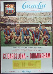 1960 Fairs Cup Final Barcelona v Birmingham City Poster (1980BOBBYG) Tags: barcelona city cup poster birmingham fairs v final 1960