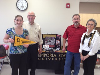 Alumni Steve Appleman, Frank and Janet Duvaniel with Denelle Hurd Admissions Counselor at El Dorado High School