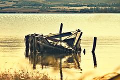 La poesia di un relitto (TamaraBRB) Tags: sardegna italy barca tramonto molo relitto ottobre oristano stagno marcedd