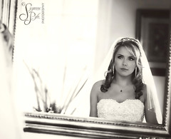 Wedding Day Reflection (Suzanne Pyle Photography) Tags: wedding portrait woman reflection mirror bride image weddingday suzannepylephotography weddingdayreflection