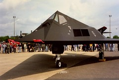 F-117 (isephoto) Tags: fighter aircraft military 1996 jet airshow stealth usaf f117 mildenhall