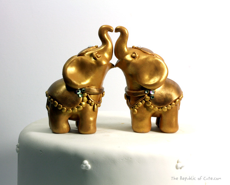 gold elephant wedding cake topper the world s most recently posted photos of elephant and 14752