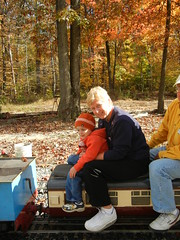 Train riding with Nan Ann