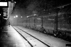 Winter Train / Vienna, Austria (2010) (Stephan Rebernik) Tags: vienna wien schnee winter blackandwhite snow night train austria sterreich europa europe darkness na