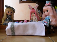 Mad Hatter's Tea Party with the March hare & Alice
