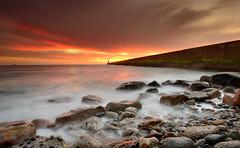 Tynemouth (Alistair Bennett) Tags: lighthouse seascape sunrise coast pier rocks tynemouth tynewear gnd075he gnd045se nikkorafs1635mm4gedvr seaspraycityarizona