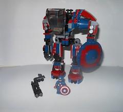 Captain America Mech (WGHMusic) Tags: building lego tournament madness superhero superheroes marvel mech 2012 fbtb