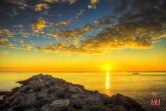 Grado Sunset HDR (Max Habich) Tags: italien sunset sea italy max water clouds canon boot austria boat sterreich rocks meer wasser raw sonnenuntergang wolken 5d dslr hdr highdynamicrange grado hdri felsen mark3 markiii habich canoneos5dmarkiii blinkagain maximilianhabich flickrstruereflection2 flickrstruereflection3