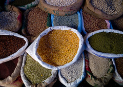 Various Range Of Seeds Stored In Bags At Pondicherry Market, India (Eric Lafforgue) Tags: travel blue red india colour green yellow horizontal outside outdoors beans corn day market spice nuts nobody nopeople seeds indie marketplace products bags grains sell indi indien hind stalls indi inde pondicherry pondichery hodu indland  hindistan indija   ndia hindustan pondichry   traveldestination   touristicdestination hindia puducherry  bhrat  indhiya bhratavarsha bhratadesha bharatadeshamu bhrrowtbaurshow  hndkastan       unionterritoryofpondicherry bunchesofbags colorfulgrains variousrange a0702161