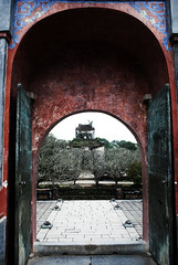 Tu Duc Inner Gate (William J H Leonard) Tags: red building architecture buildings asian temple gate asia southeastasia vietnamese tomb chinese palace vietnam hue tuduc hué southeastasian northernvietnam tuductomb earthasia imperialcapital