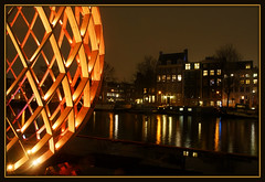 Golden egg (Ciao Anita!) Tags: friends light reflection art netherlands amsterdam festival licht canal arte nightshot kunst egg nederland kanaal reflexions veduta luce olanda ei amstel canale noordholland cityview riflesso uovo weerspiegeling rivier townview stadsgezicht nachtopname theperfectphotographer scattonotturno amsterdamlightfestival20122013