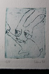 Ich lag im Gras, als ein Hase ... (Etching Stone) Tags: rabbit grass stone nose etching hare bad plate copper mano series laughter papel lachen nase carta hase drill axit hecho bohren mezzo gravure fatta tiefdruck reproduktion kupfer auflage kupferstich kupferplatte khc btten aguafuerte aquatinta eiseniiichlorid kaltnadel akwaforta tzung inijoni  etchingstone