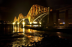 Forth Bridge at night 11 Jan 2013 (Grant_R) Tags: winter night scotland edinburgh forthbridge southqueensferry forthbridges forthrailbridge railbridge grantr forthbridgeatnight railbridgeatnight