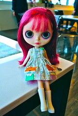 my last pictures of little beetle  :( (cybermelli) Tags: doll dress arcade button blythe prima custom dolly cassis takara rbl casis primadolly loveblythe