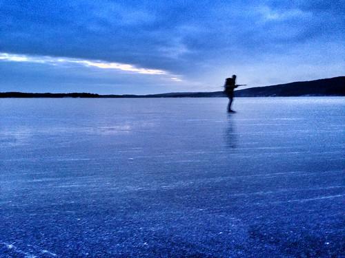 Skridskopremiär Västersjön