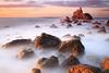 LIGHTPATH (R a q u e l d e C a s t r o | Images) Tags: sunset sea costa beach clouds atardecer coast mar rocks waves playa nubes olas bizkaia rocas paisvasco sigma1020f456 meñakoz canoneos50d basquecountrie raqueldecastro ☆thepowerofnow☆ raqueldecastroimagescom