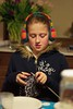 It's magic (wtorbeyns) Tags: girl knitting jolien earwarmers k10d pentaxfsmc11750mm