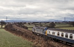 40025, Harlescott, January 1982 (David Rostance) Tags: shropshire shrewsbury englishelectric class40 40025 harlescott