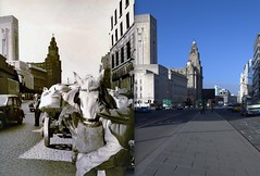 The Strand, 1950s and 2013 (Keithjones84) Tags: liverpool merseyside oldliverpool old oldphotos comparison thenandnow street road rephotography