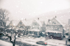 The snow falls silently (Kilkennycat) Tags: street houses winter white snow storm blur canon pennsylvania 1855 unfocused flakes 500d kilkennycat t1i ryanconners