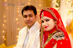 Wedding (weddingbellbd.com) Tags: wedding light red smile lady bride nikon couple pretty details decoration ornaments dhaka bridal bangladesh strobe weddingbell backlilght