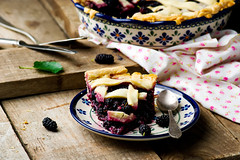 Mulberry  pie with a lattice. (Zoryanchik) Tags: mulberry pie white fresh slice food sweet fruit tasty dessert plate delicious sugar cake berry closeup pastry bakery gourmet cuisine homemade bake vintage