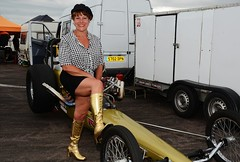 Ruth_7110 (Fast an' Bulbous) Tags: girl woman mature milf hot sexy chick babe drag dragster race car vehicle automobile fast speed power santa pod skirt boots people outdoor nikon motorsport d7100 gimp